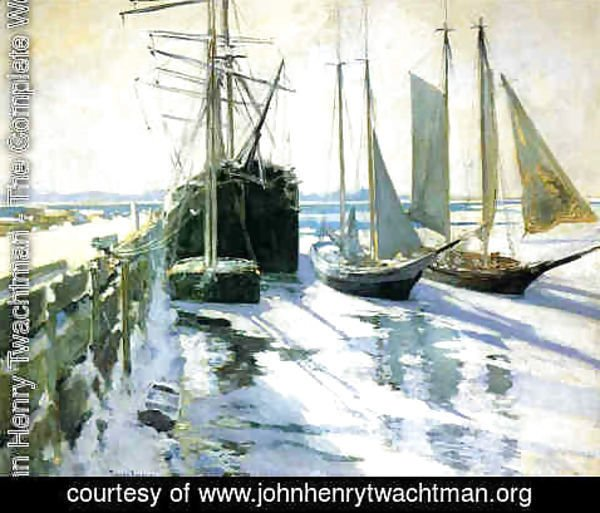 John Henry Twachtman - Winter, Gloucester Harbor