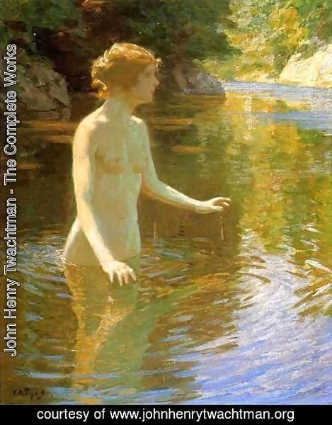 John Henry Twachtman - Enchanted Pool