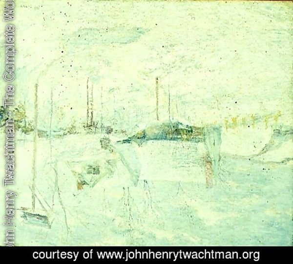 John Henry Twachtman - Last Touch of Sun 2