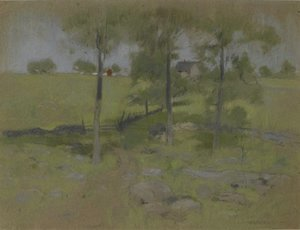 John Henry Twachtman - Three Trees, c.1888-95
