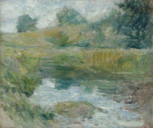 John Henry Twachtman - Pond in Spring