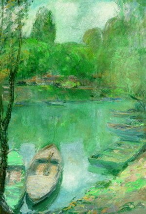 John Henry Twachtman - Boats Moored on a Pond