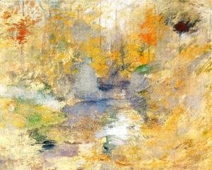 John Henry Twachtman - Hemlock Pool, Autumn