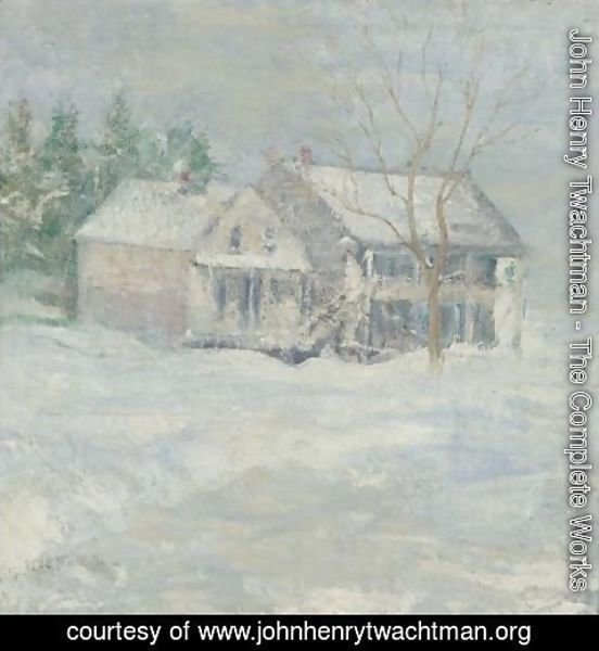 John Henry Twachtman - Brush House, Cos Cob