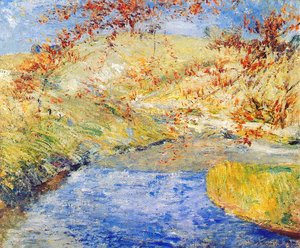 John Henry Twachtman - The Winding Brook