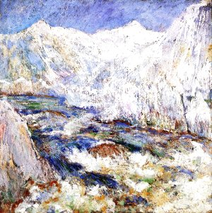 John Henry Twachtman - The Rapids, Yellowstone