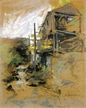 John Henry Twachtman - Abandoned Mill  Branchville  Connecticut