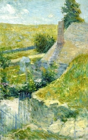 John Henry Twachtman - Artists Home Seen From The Back