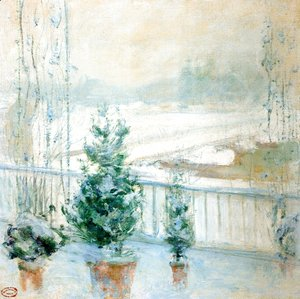 John Henry Twachtman - Balcony In Winter