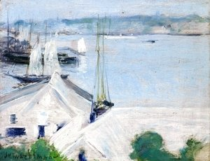 John Henry Twachtman - Boats At Anchor