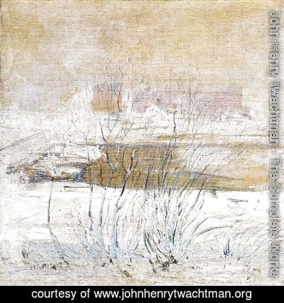 John Henry Twachtman - Bridge In Winter