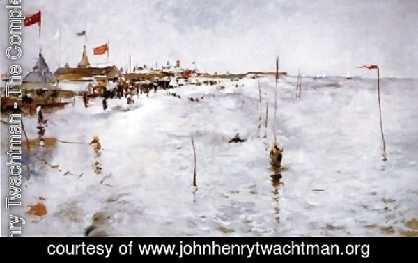 John Henry Twachtman - Coney Island From Brighton Pier