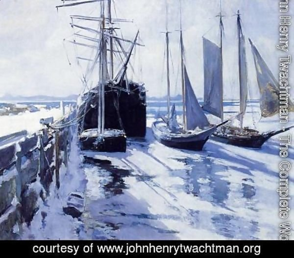 John Henry Twachtman - Connecticut Shore  Winter