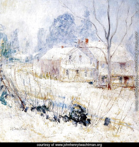 Country House In Winter  Cos Cob