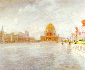 John Henry Twachtman - Court Of Honor  Worlds Columbian Exposiition