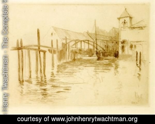 John Henry Twachtman - Dock At Newport