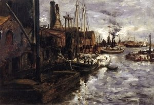 John Henry Twachtman - End Of The Pier  New York Harbor