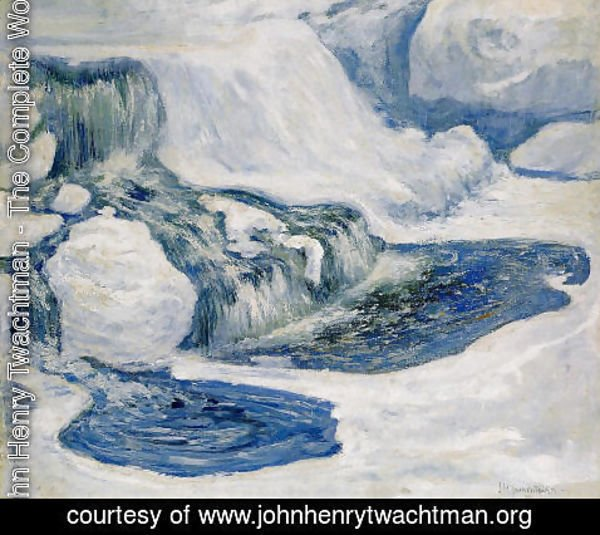John Henry Twachtman - Falls In January
