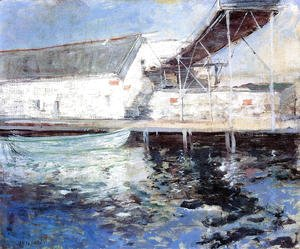 John Henry Twachtman - Fish Sheds  Gloucester  Massachusetts