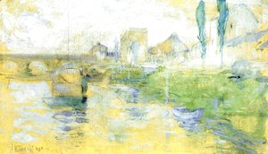 John Henry Twachtman - French River Scene