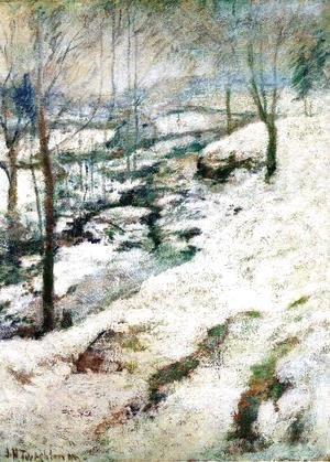 John Henry Twachtman - Frozen Brook