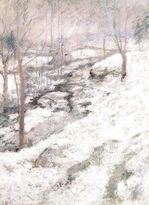 John Henry Twachtman - Frozen Brook2