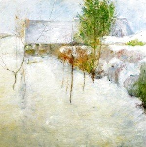 John Henry Twachtman - House In Snow