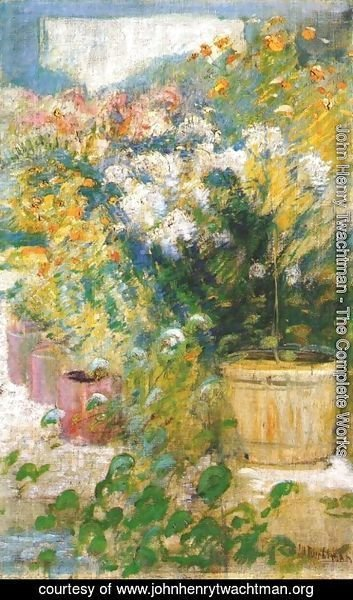 John Henry Twachtman - In The Greenhouse