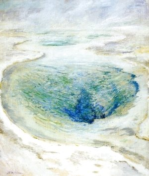 John Henry Twachtman - Morning Glory Pool  Yellowstone