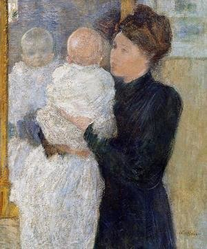 John Henry Twachtman - Mother And Child