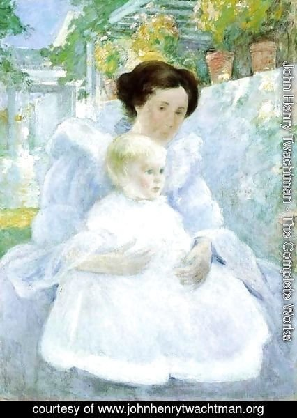 John Henry Twachtman - Mother And Child2