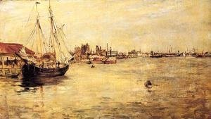 John Henry Twachtman - New York Harbor2