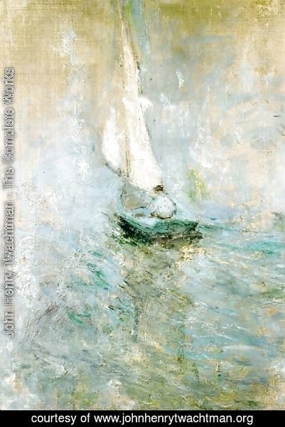 John Henry Twachtman - Sailing In The Mist2