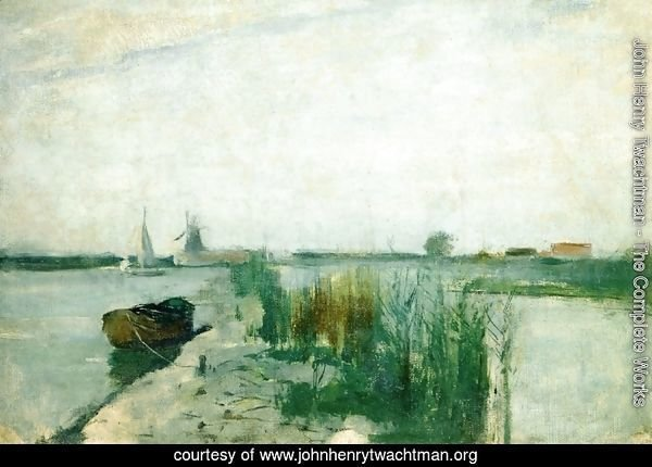 Scene Along A Dutch River