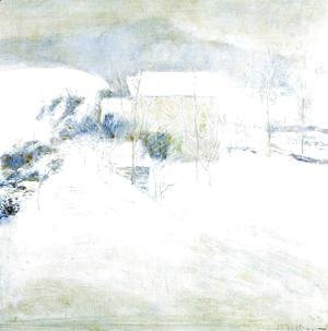 John Henry Twachtman - Snow Scene At Utica