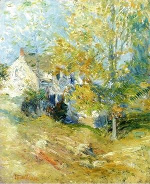 John Henry Twachtman - The Artists House Through The Trees Aka Autumn Afternoon