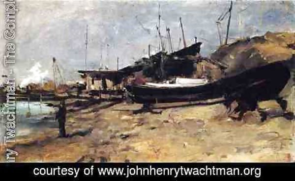 John Henry Twachtman - The Boat Yard