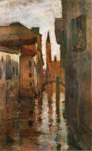 John Henry Twachtman - The Campanile  Late Afternoon