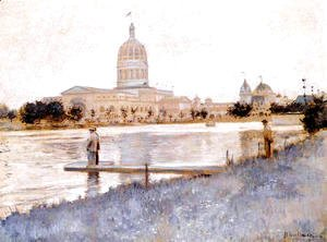 John Henry Twachtman - The Chicago Worlds Fair  Illinois Building