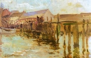 John Henry Twachtman - The Landing  Newport
