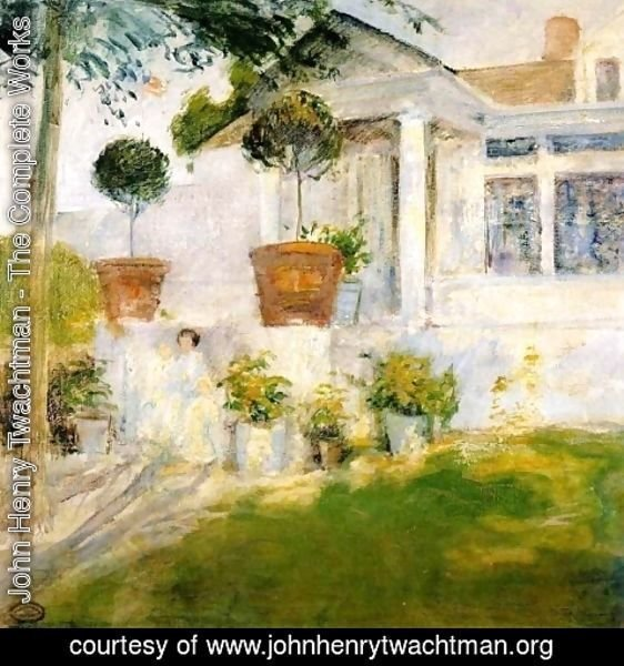 John Henry Twachtman - The Portico