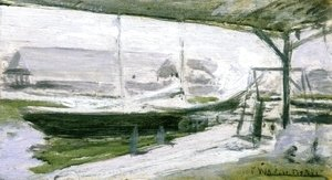 John Henry Twachtman - Under The Wharves