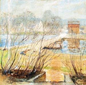 John Henry Twachtman - View From The Holley House  Cos Cob  Connecticut2