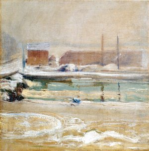 John Henry Twachtman - View From The Holley House  Winter