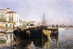 John Henry Twachtman - View Of Venice2