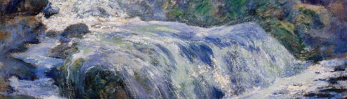 John Henry Twachtman - Waterfall  Blue Brook