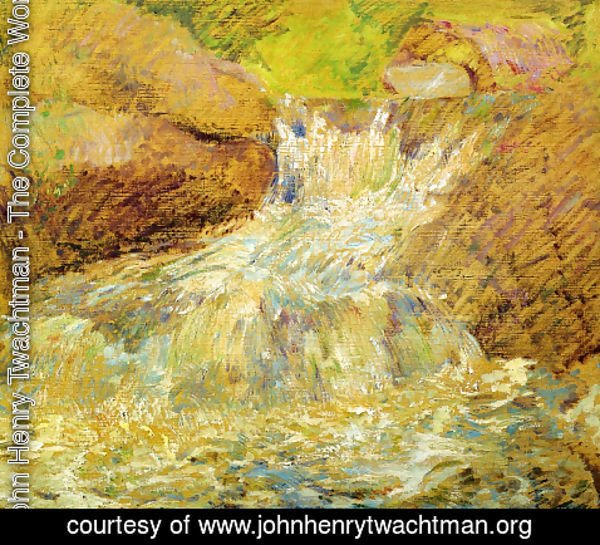 John Henry Twachtman - Waterfall  Greenwich
