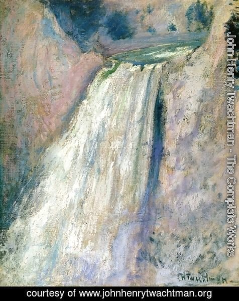 John Henry Twachtman - Waterfall  Yellowstone