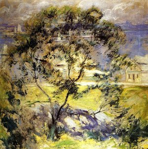 John Henry Twachtman - Wild Cherry Tree