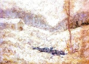 John Henry Twachtman - Winter Scene2